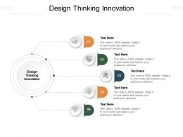Design Thinking Innovation Ppt Powerpoint Presentation Show Format Ideas Cpb