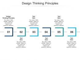 Design Thinking Principles Ppt Powerpoint Presentation Ideas Show Cpb