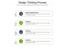 Design Thinking Process Ppt Powerpoint Presentation Gallery Mockup Cpb