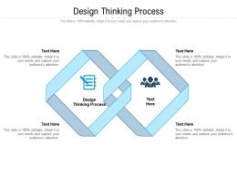 Design Thinking Process Ppt Powerpoint Presentation Pictures Professional Cpb