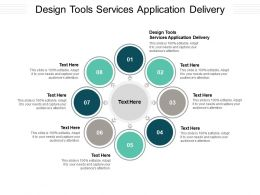 Design Tools Services Application Delivery Ppt Powerpoint Presentation Show Cpb