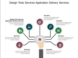 Design Tools Services Application Delivery Services Ppt Powerpoint Presentation Infographic Template Cpb