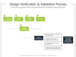 Design Verification And Validation Process Ppt Powerpoint Presentation Styles Graphics
