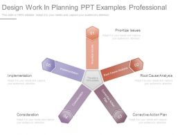 Design Work In Planning Ppt Examples Professional