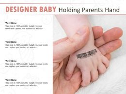 Designer Baby Holding Parents Hand