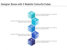 Designer Boxes With 5 Realistic Colourful Cubes