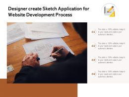 Designer Create Sketch Application For Website Development Process