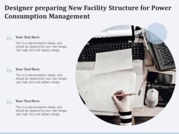 Designer Preparing New Facility Structure For Power Consumption Management