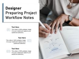 Designer Preparing Project Workflow Notes