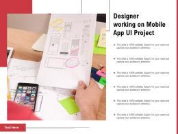 Designer Working On Mobile App UI Project