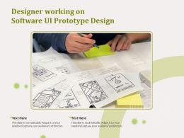 Designer Working On Software UI Prototype Design