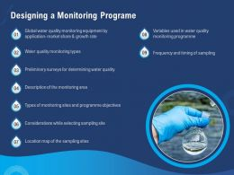 Designing A Monitoring Programe Variables Ppt Powerpoint Presentation Diagram