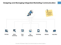 Designing And Managing Integrated Marketing Communication Ppt Powerpoint Presentation Slides