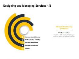 Designing And Managing Services Ppt Powerpoint Presentation Infographic Template Portfolio