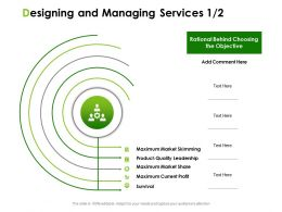 Designing And Managing Services Ppt Powerpoint Presentation Professional Templates