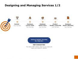 Designing And Managing Services Survival Ppt Powerpoint Presentation Slides