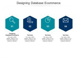 Designing Database Ecommerce Ppt Powerpoint Presentation Outline Inspiration Cpb