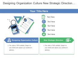 Designing Organization Culture New Strategic Direction Governance Ethics