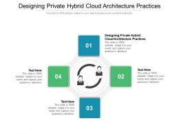 Designing Private Hybrid Cloud Architecture Practices Ppt Powerpoint Presentation Ideas Designs Cpb