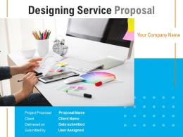 Designing Service Proposal Powerpoint Presentation Slides