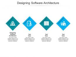 Designing Software Architecture Ppt Powerpoint Presentation Icon Gridlines Cpb