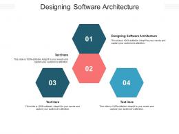 Designing Software Architecture Ppt Powerpoint Presentation Inspiration Graphics Example Cpb