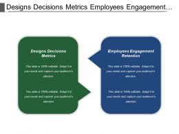Designs Decisions Metrics Employees Engagement Retention Supplier Power