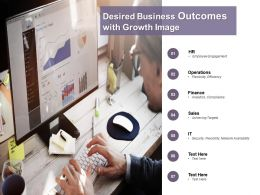 Desired Business Outcomes With Growth Image