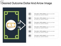 Desired Outcome Dollar And Arrow Image