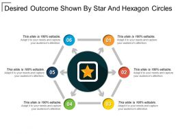 Desired Outcome Shown By Star And Hexagon Circles