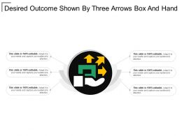 Desired Outcome Shown By Three Arrows Box And Hand