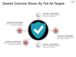 Desired Outcome Shown By Tick Ad Targets