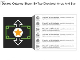 Desired Outcome Shown By Two Directional Arrow And Star