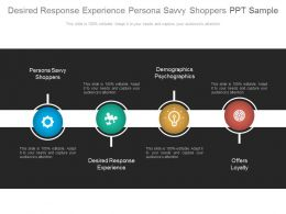 Desired Response Experience Persona Savvy Shoppers Ppt Sample
