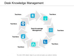 Desk Knowledge Management Ppt Powerpoint Presentation Gallery Gridlines Cpb