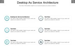 Desktop As Service Architecture Ppt Powerpoint Presentation Influencers Cpb