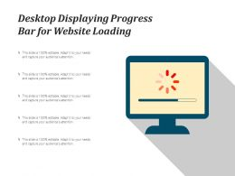 Desktop Displaying Progress Bar For Website Loading