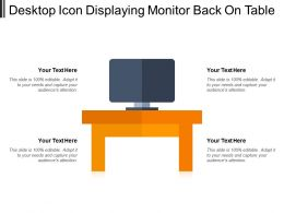 Desktop Icon Displaying Monitor Back On Table