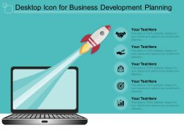 Desktop Icon For Business Development Planning