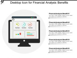 Desktop Icon For Financial Analysis Benefits
