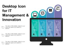 Desktop Icon For It Management And Innovation