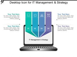 Desktop Icon For It Management And Strategy