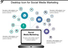Desktop Icon For Social Media Marketing