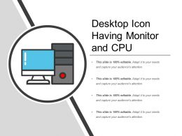 Desktop Icon Having Monitor And Cpu