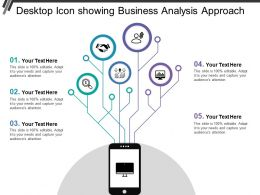 Desktop Icon Showing Business Analysis Approach