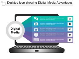 Desktop Icon Showing Digital Media Advantages