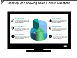 Desktop Icon Showing Sales Review Questions