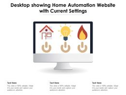 Desktop Showing Home Automation Website With Current Settings