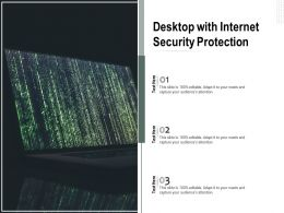 Desktop With Internet Security Protection