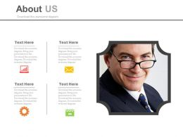 Detail Of Company Director Profile For About Us Powerpoint Slides